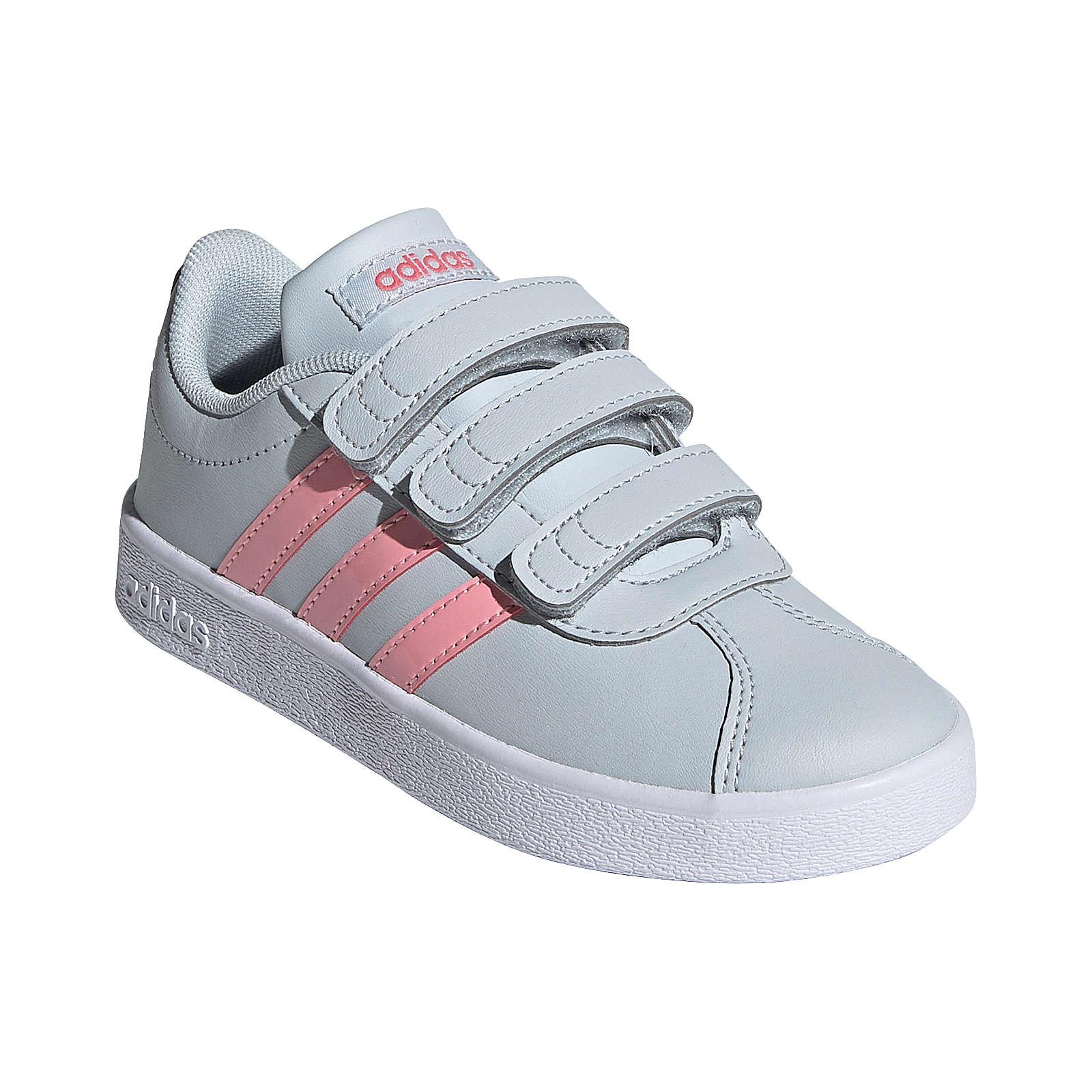 adidas Sneakers Low VL COURT 2.0 CMF C für Mädchen hellblau Mädchen Gr. 30