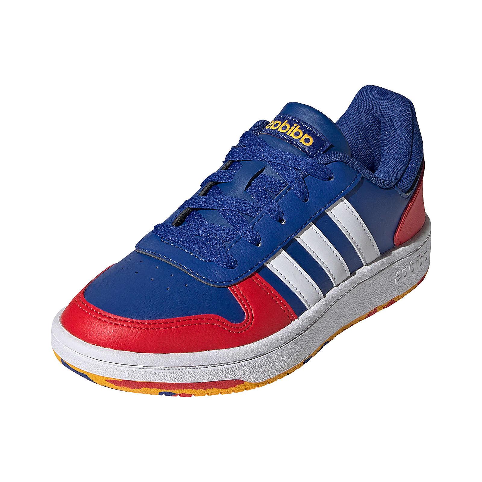 adidas Sneakers Low HOOPS 2.0 für Jungen blau/weiß Junge Gr. 34