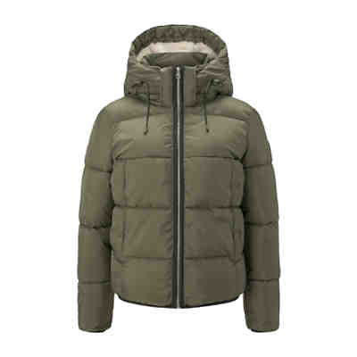 Jacken Kurze Pufferjacke mit Kapuze Outdoorjacken