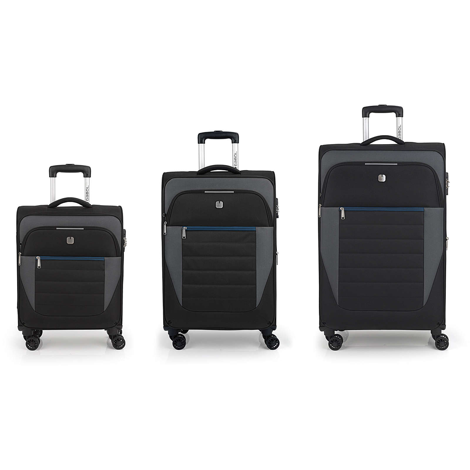Gabol Sky 4-Rollen Kofferset 3tlg. Trolleys schwarz