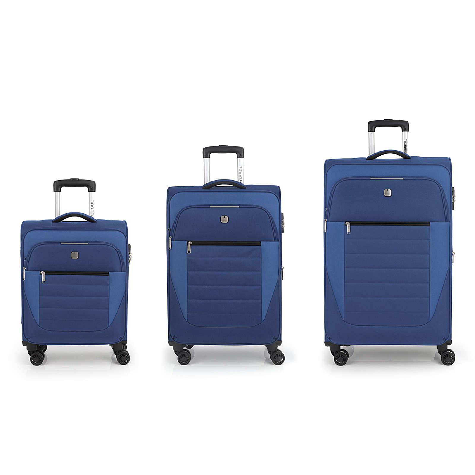 Gabol Sky 4-Rollen Kofferset 3tlg. Trolleys blau