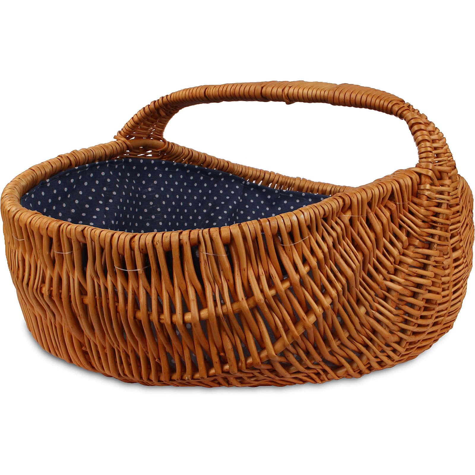 normani® Weidenkorb mit Henkel Brown Willow Einkaufskörbe braun