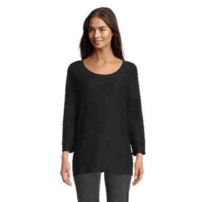 Betty Barclay Rundhals-Shirt mit Wellenstruktur 3/4-Arm-Shirts