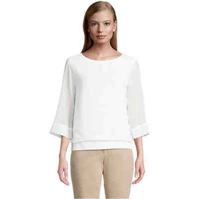 Betty & Co Blusenshirt mit Webbesatz 3/4-Arm-Shirts