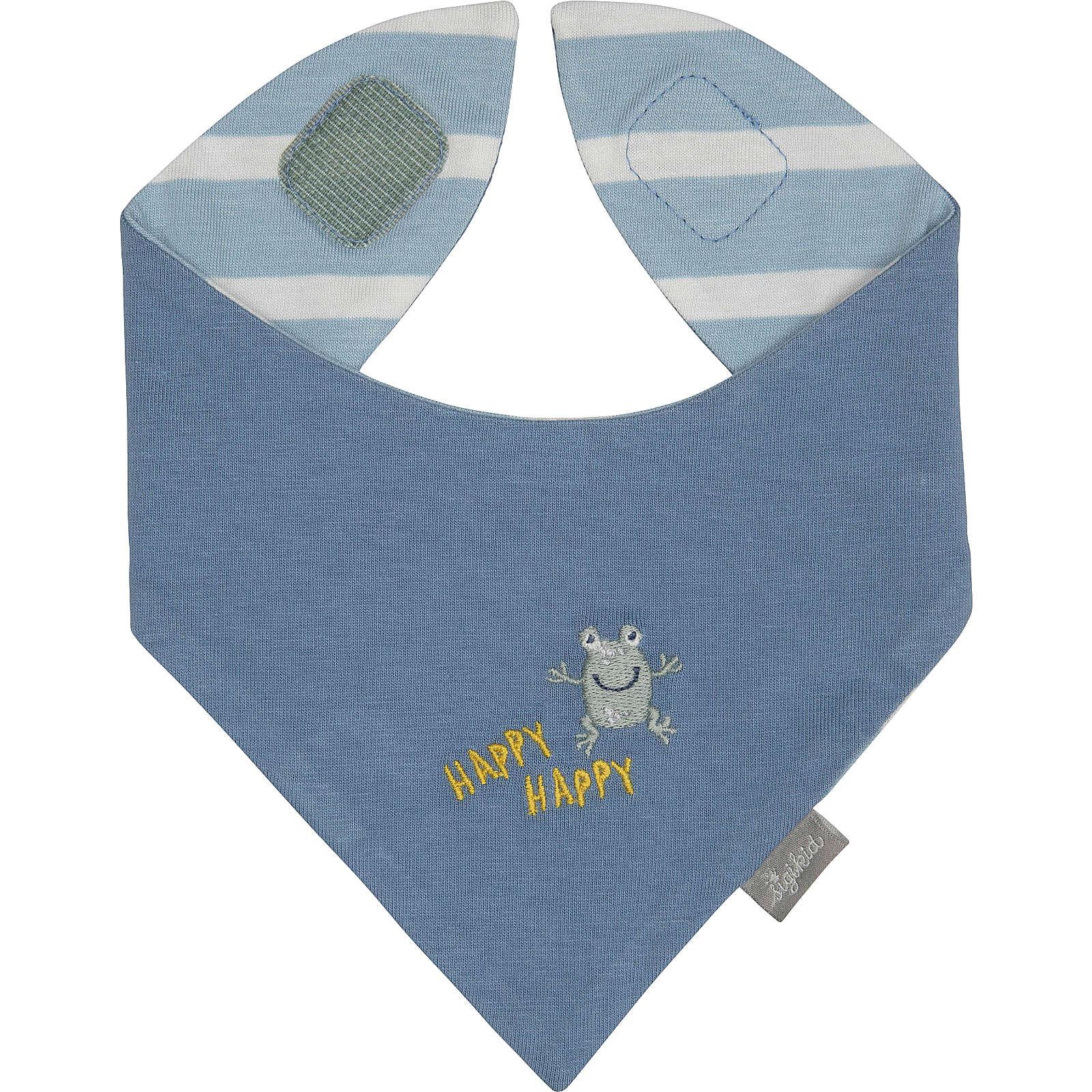Wendehalstuch CLASSIC BABY von sigikid für Jungen, Organic Cotton blau/weiß Junge Gr. one size