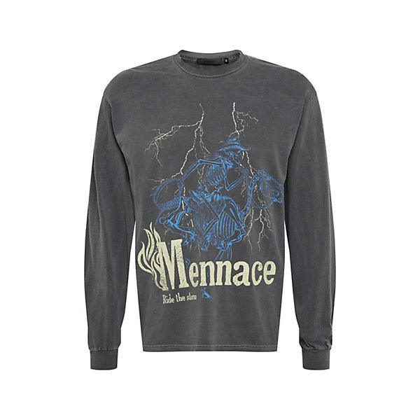 shirt distressed skeletal mule Langarmshirts