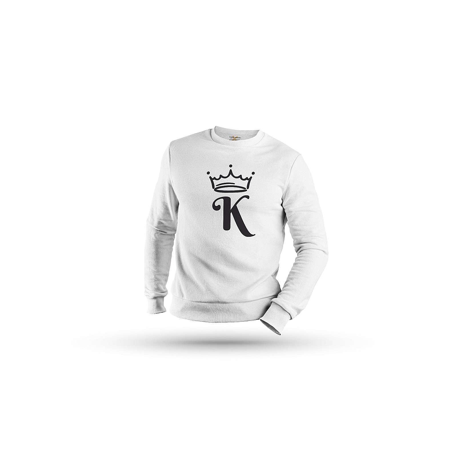 mamino Herren Sweatshirt -King & Queen Couple Sweatshirts weiß Herren Gr. 50