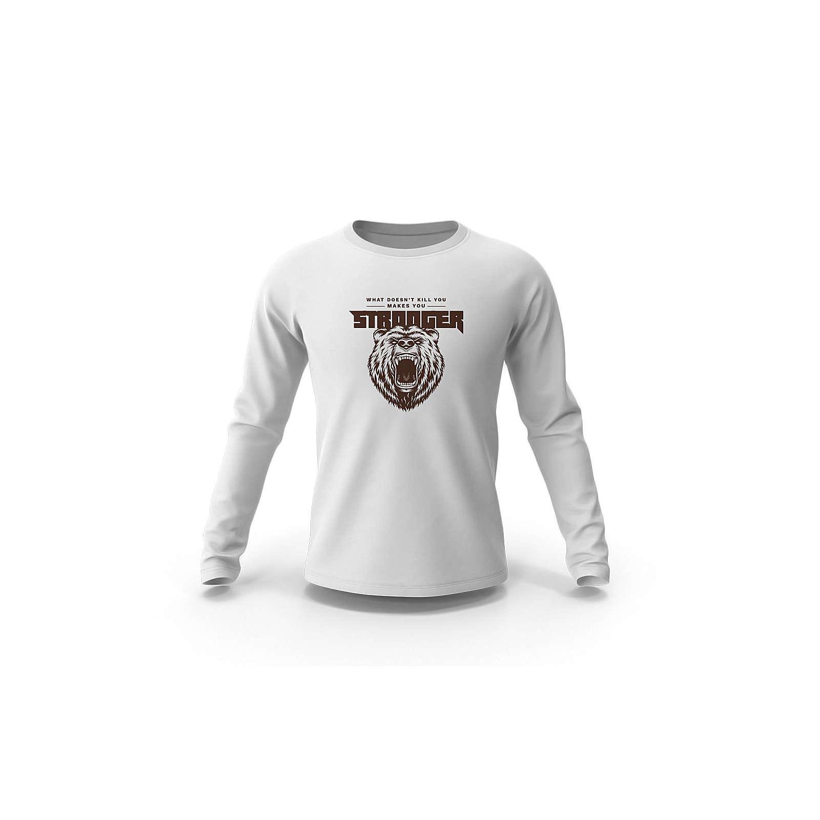 mamino Herren Sweatshirt -Bear Sweatshirts weiß Herren Gr. 54