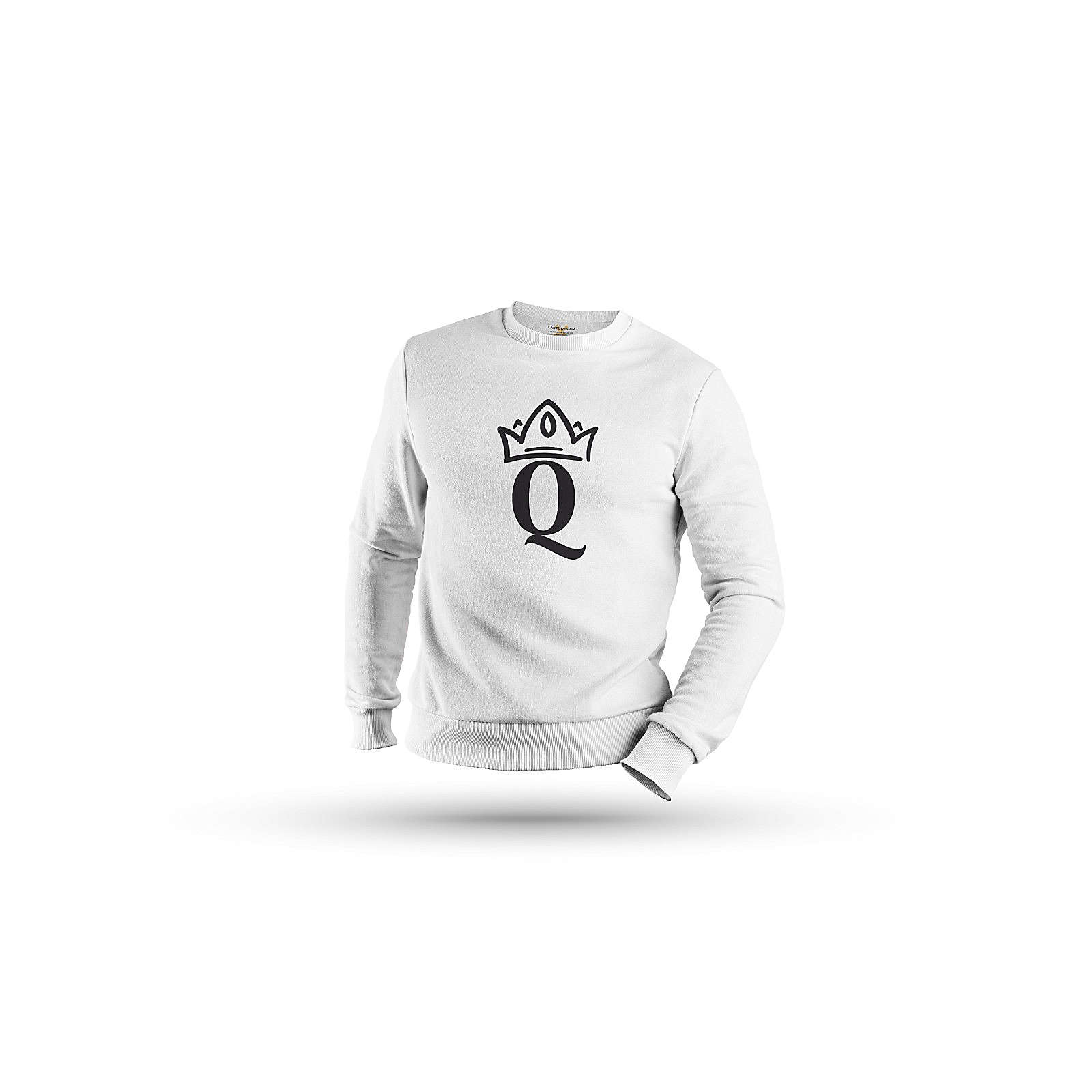 mamino Damen Sweatshirt -King & Queen Couple Sweatshirts weiß Damen Gr. 40
