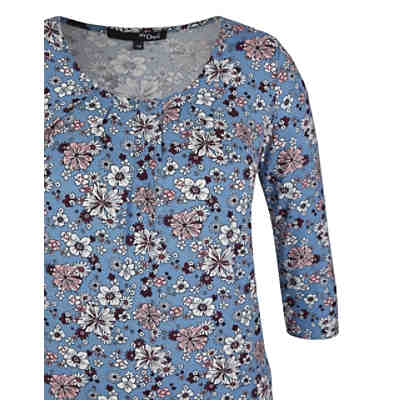 Jersey-Shirt mit floralem Muster 3/4-Arm-Shirts