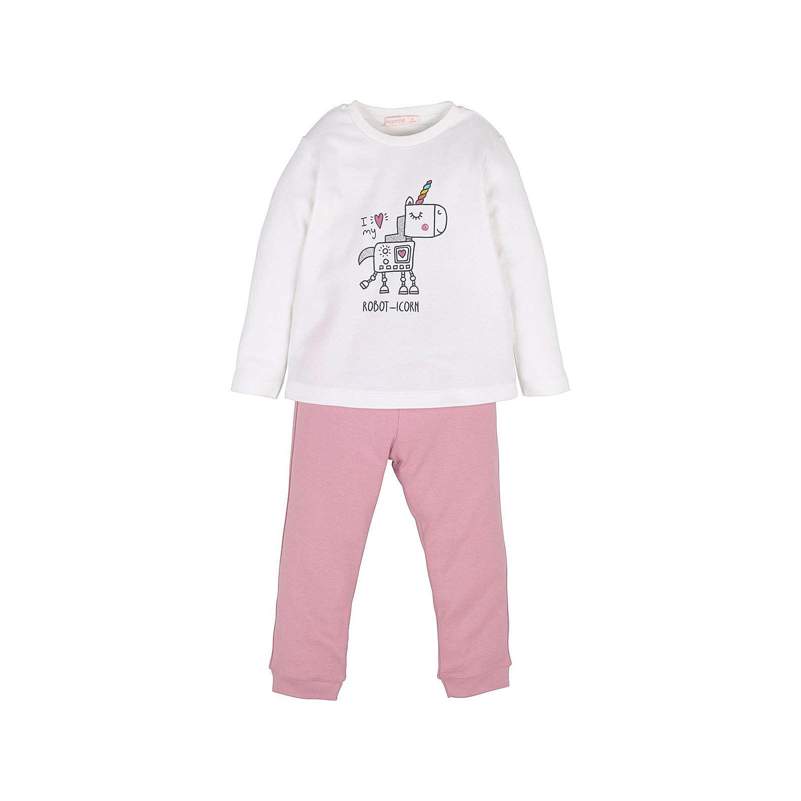mamino Mädchen Schlafanzug -Robot-Icorn Anzüge pink Mädchen Gr. 62/68