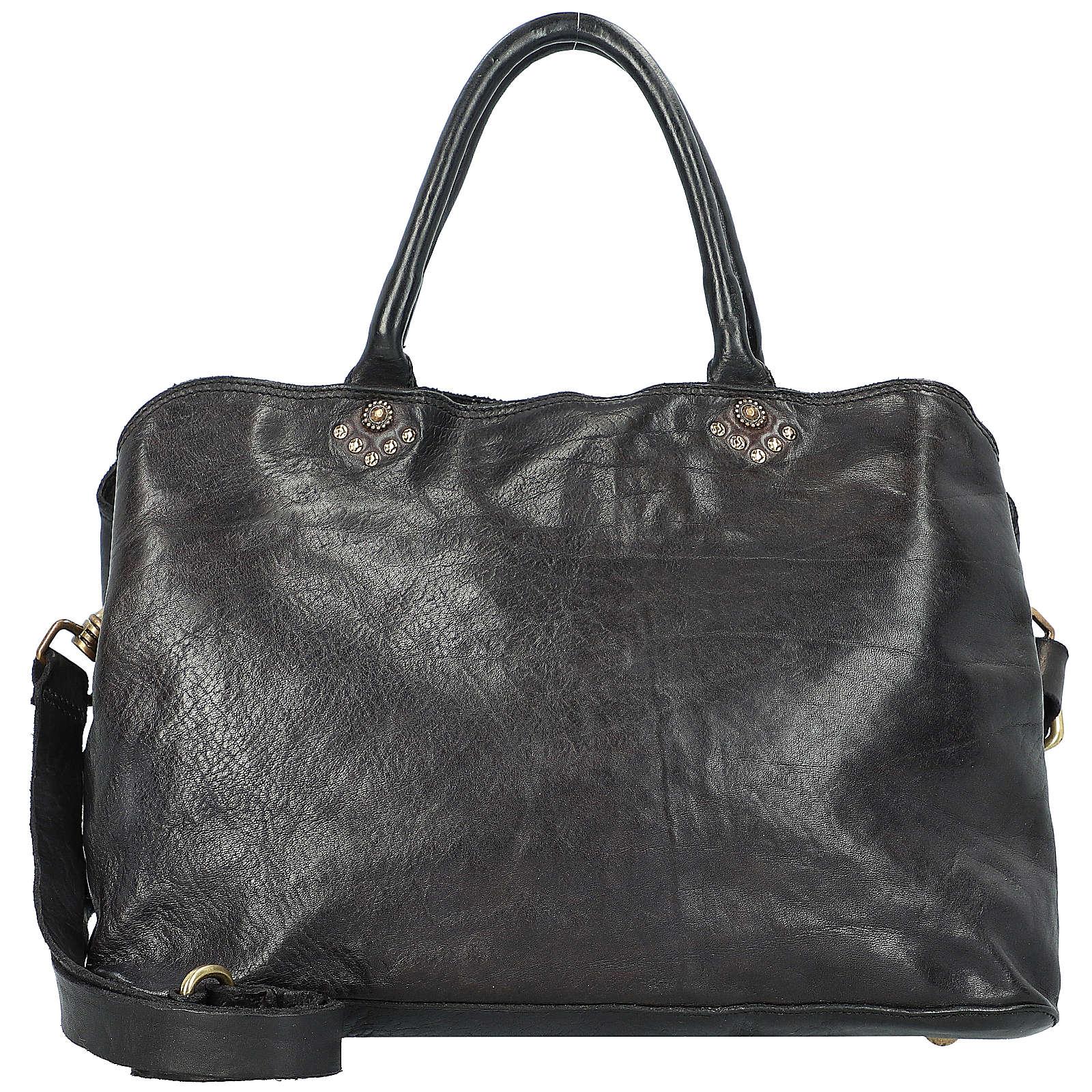 Campomaggi Handtasche Leder 35 cm Handtaschen schwarz Damen