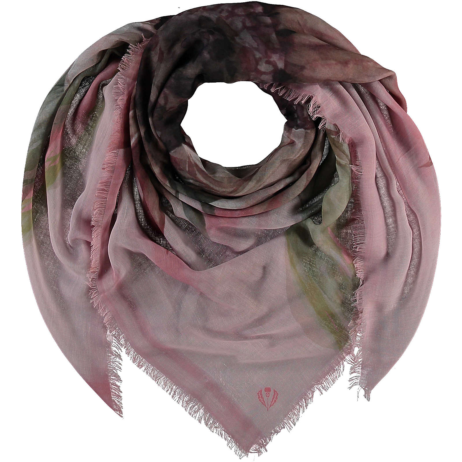 FRAAS Sustainability Edition - Florales Tuch aus recyceltem Polyester Halstücher rosa Damen Gr. one size