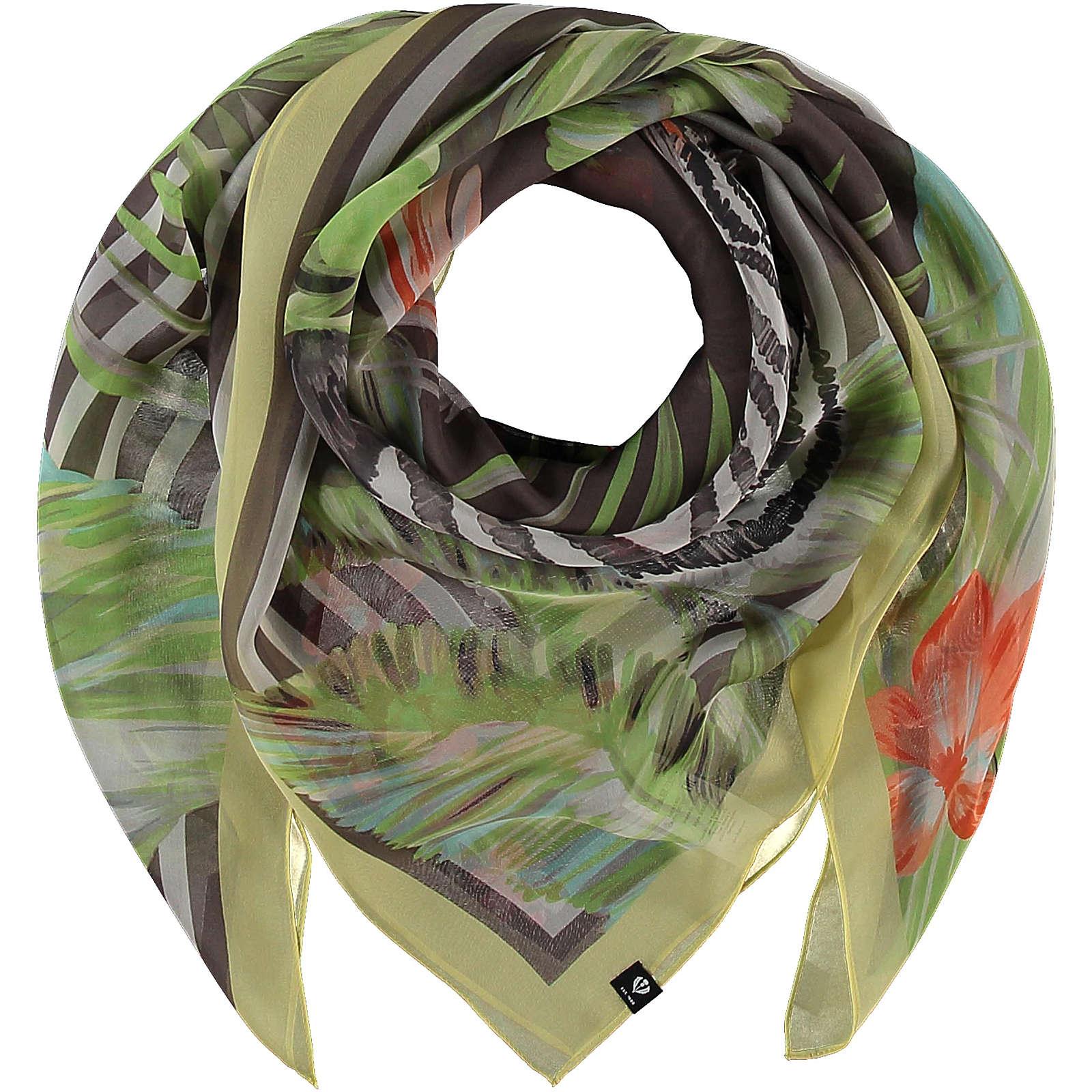 FRAAS Tuch aus reiner Seide im Ethno-Style Halstücher taupe Damen Gr. one size