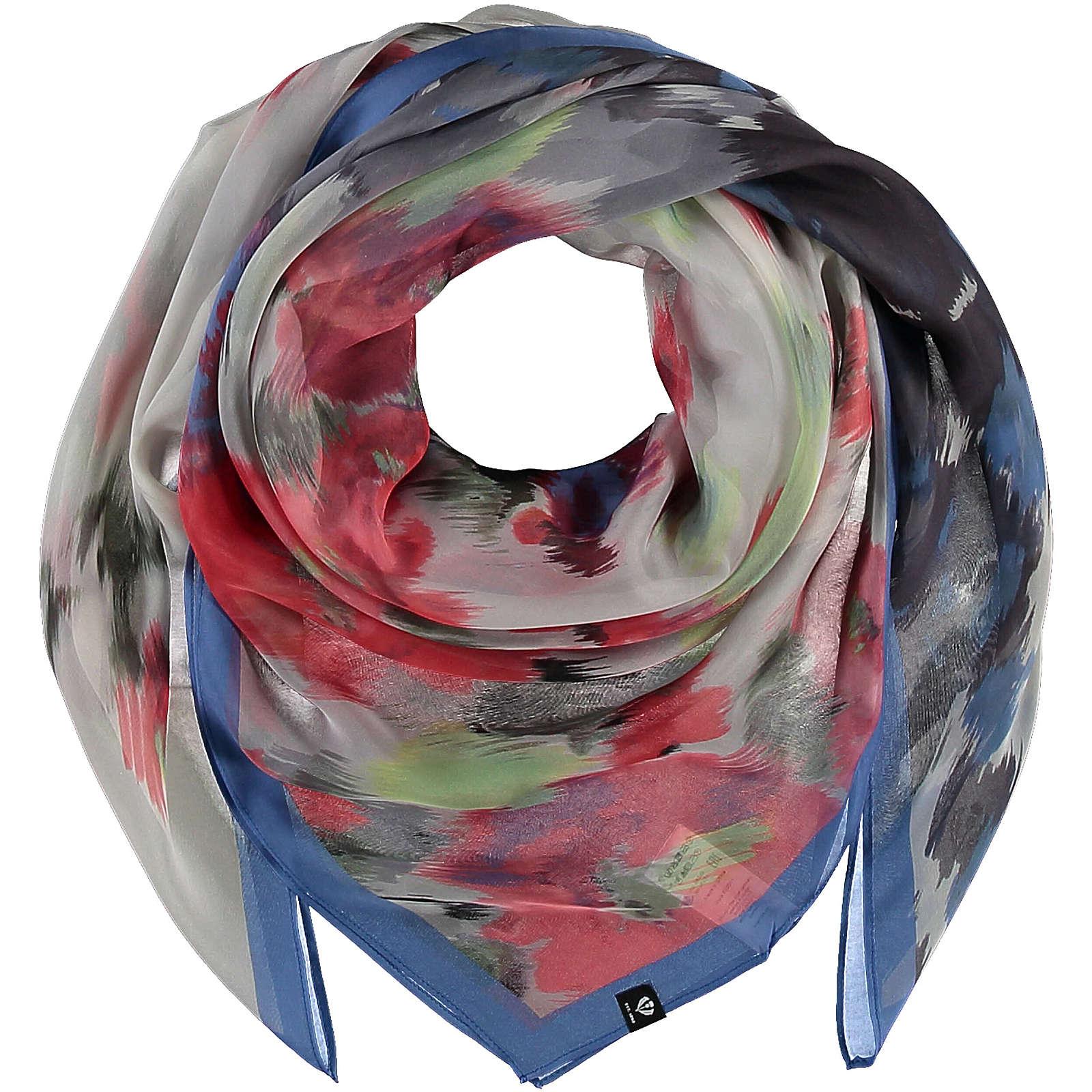 FRAAS Florales Tuch aus reiner Seide Halstücher blau Damen Gr. one size