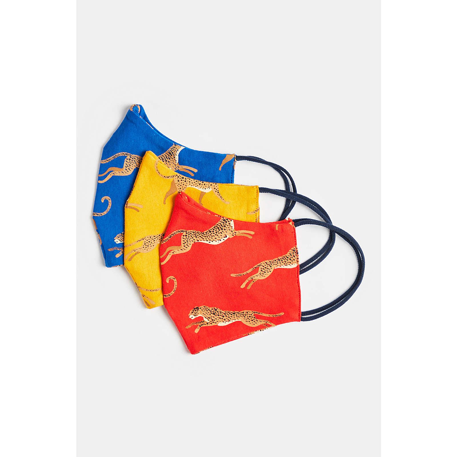 WE Fashion Mädchen-Mundschutz, 3er-Pack Mund-Nasen-Masken TeenW mehrfarbig Mädchen Gr. one size