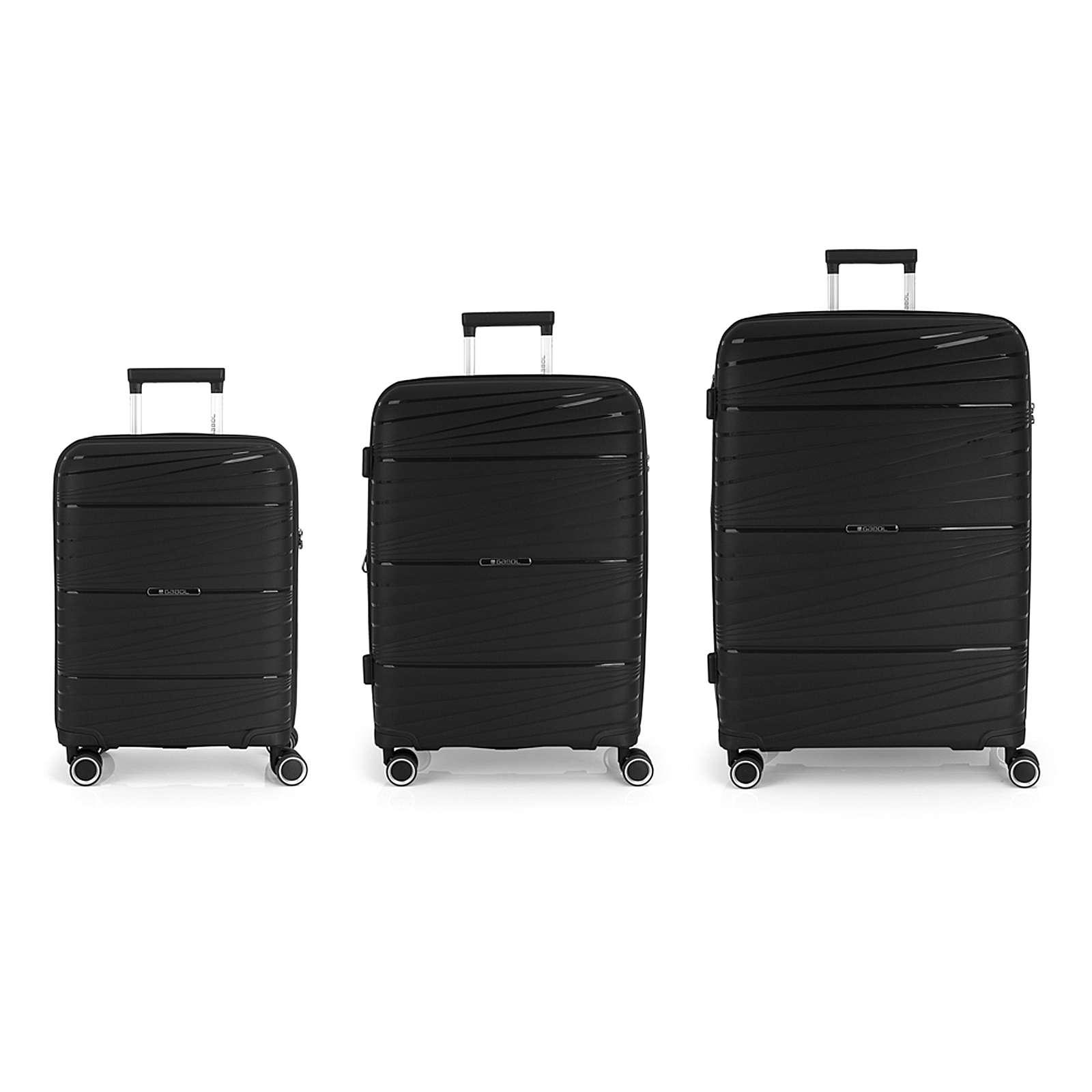 Gabol Kiba 4-Rollen Kofferset 3tlg. Trolleys schwarz