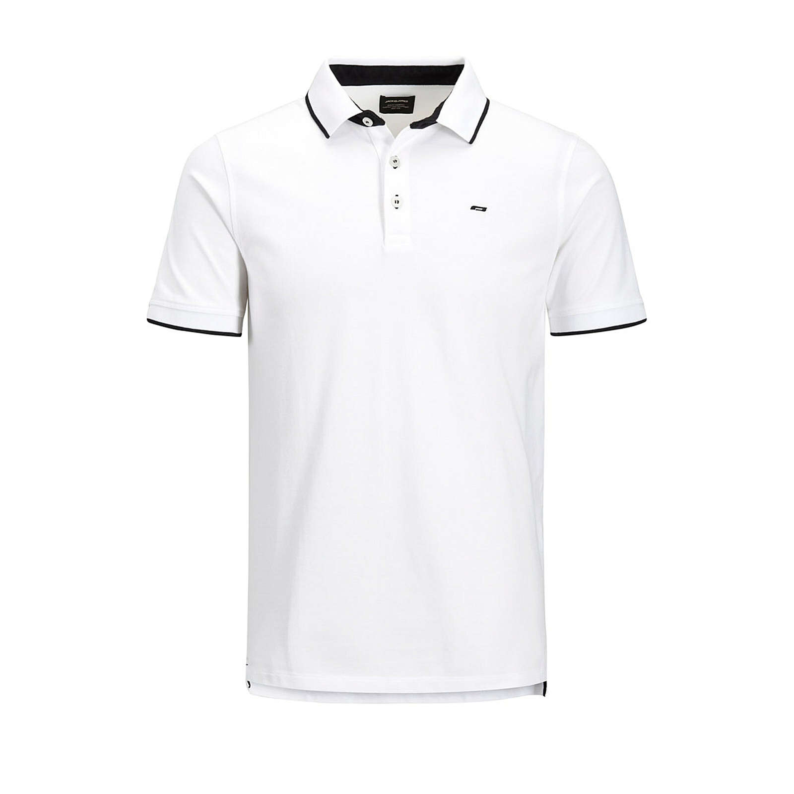 JACK & JONES Plus JACK & JONES PLUS shirt Poloshirts weiß Herren Gr. 50