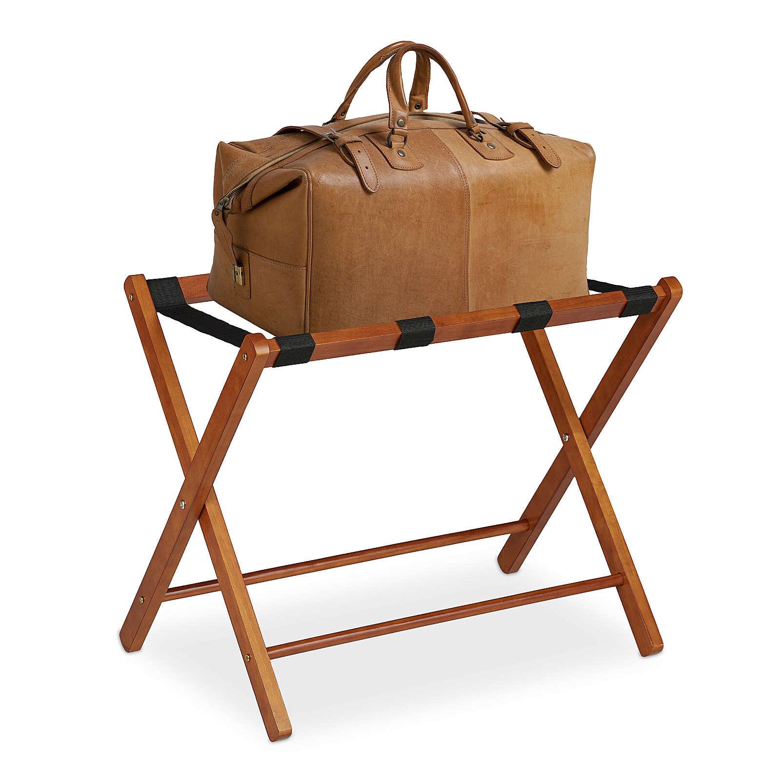 relaxdays Kofferständer Holz klappbar natur