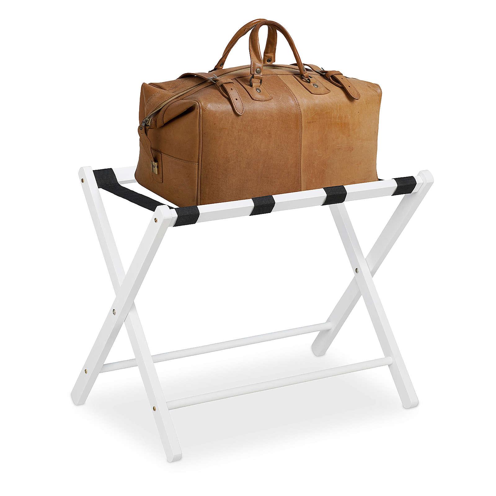 relaxdays Kofferständer Holz klappbar weiß