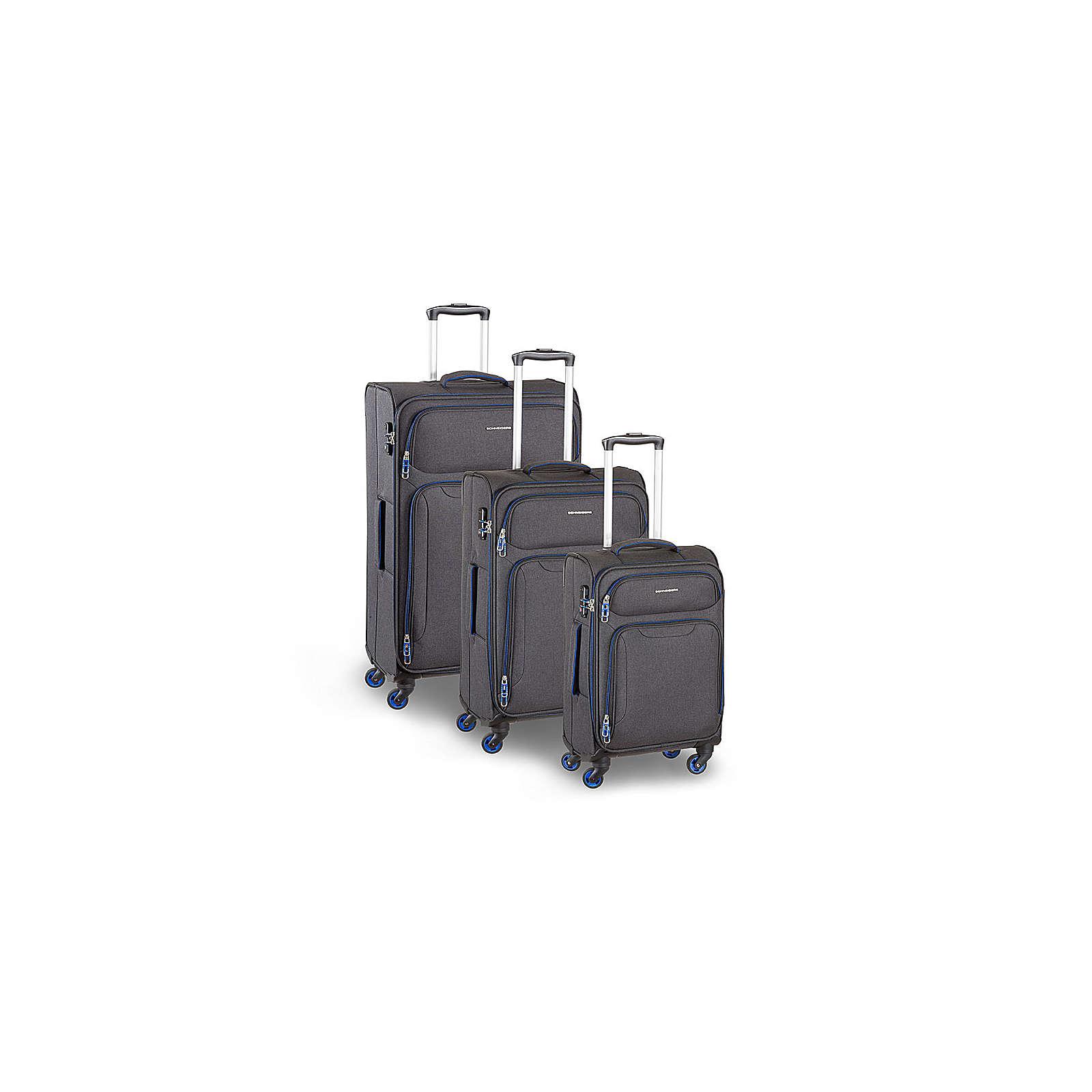 SCHNEIDERS Koffer Set Palma 3 Teilig Koffer grau