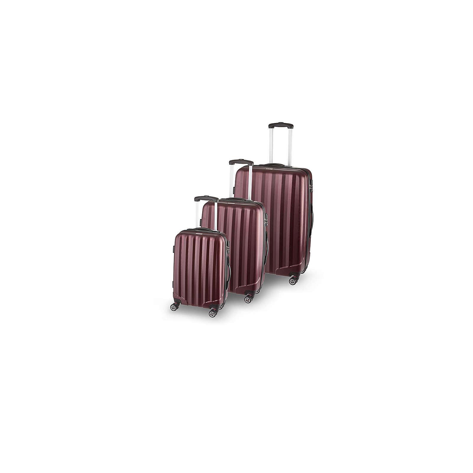 SCHNEIDERS Koffer Set Manhattan Koffer dunkelrot