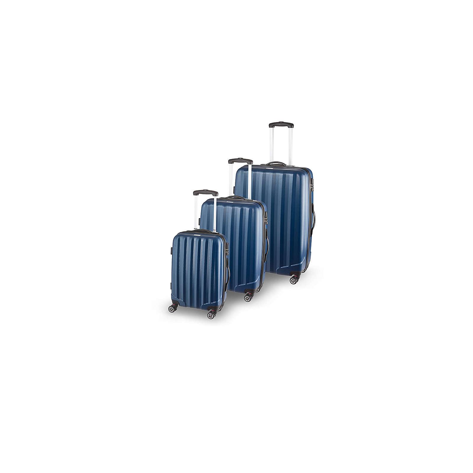 SCHNEIDERS Koffer Set Manhattan Koffer blau