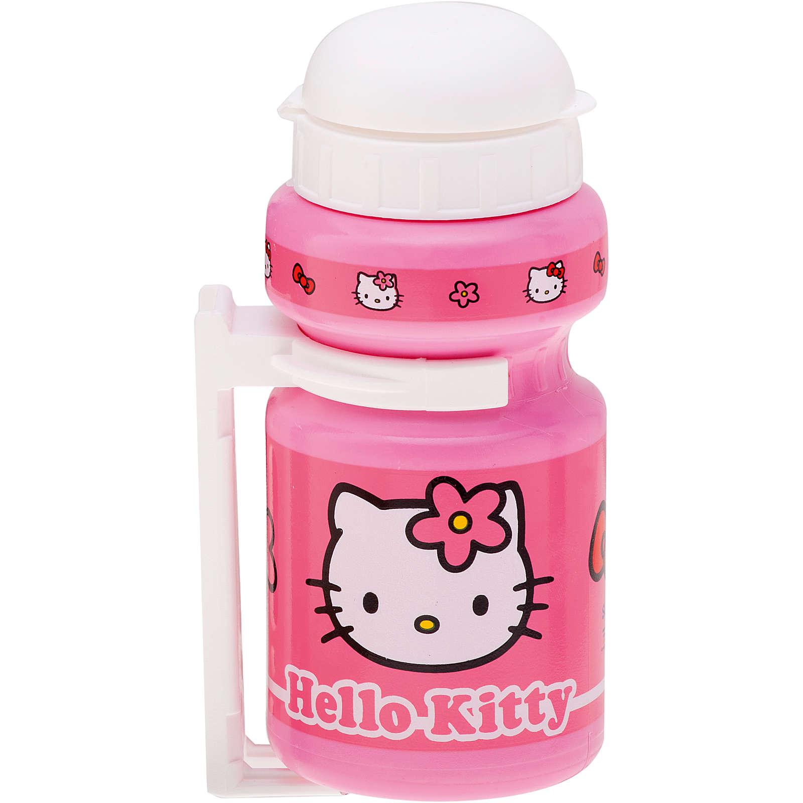 Bike Fashion Hello Kitty Trinkflasche mit Rahmenhalterung pink Mädchen Gr. 300