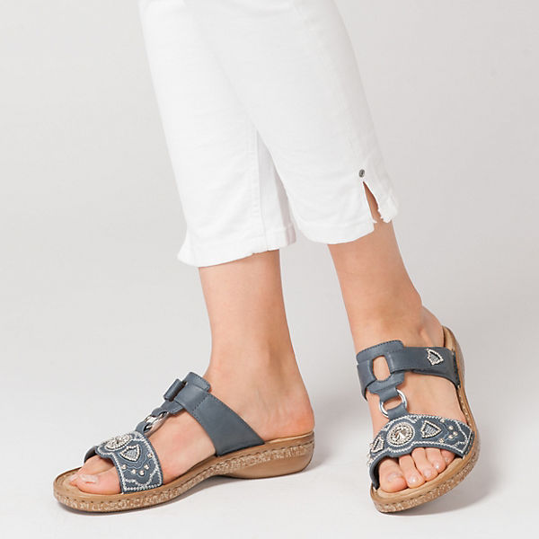 Rieker, Gute Vaduz Komfort-Pantoletten, blau  Gute Rieker, Qualität beliebte Schuhe 28ac47