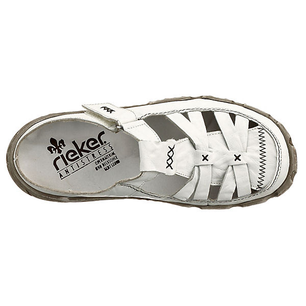 rieker, rieker Pantoletten, weiß weiß weiß  Gute Qualität beliebte Schuhe 2b2faf