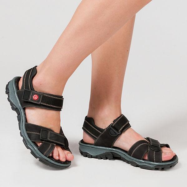 Rieker, Ganges/Preston OutdoorSandale, schwarz Gute Qualität beliebte Schuhe