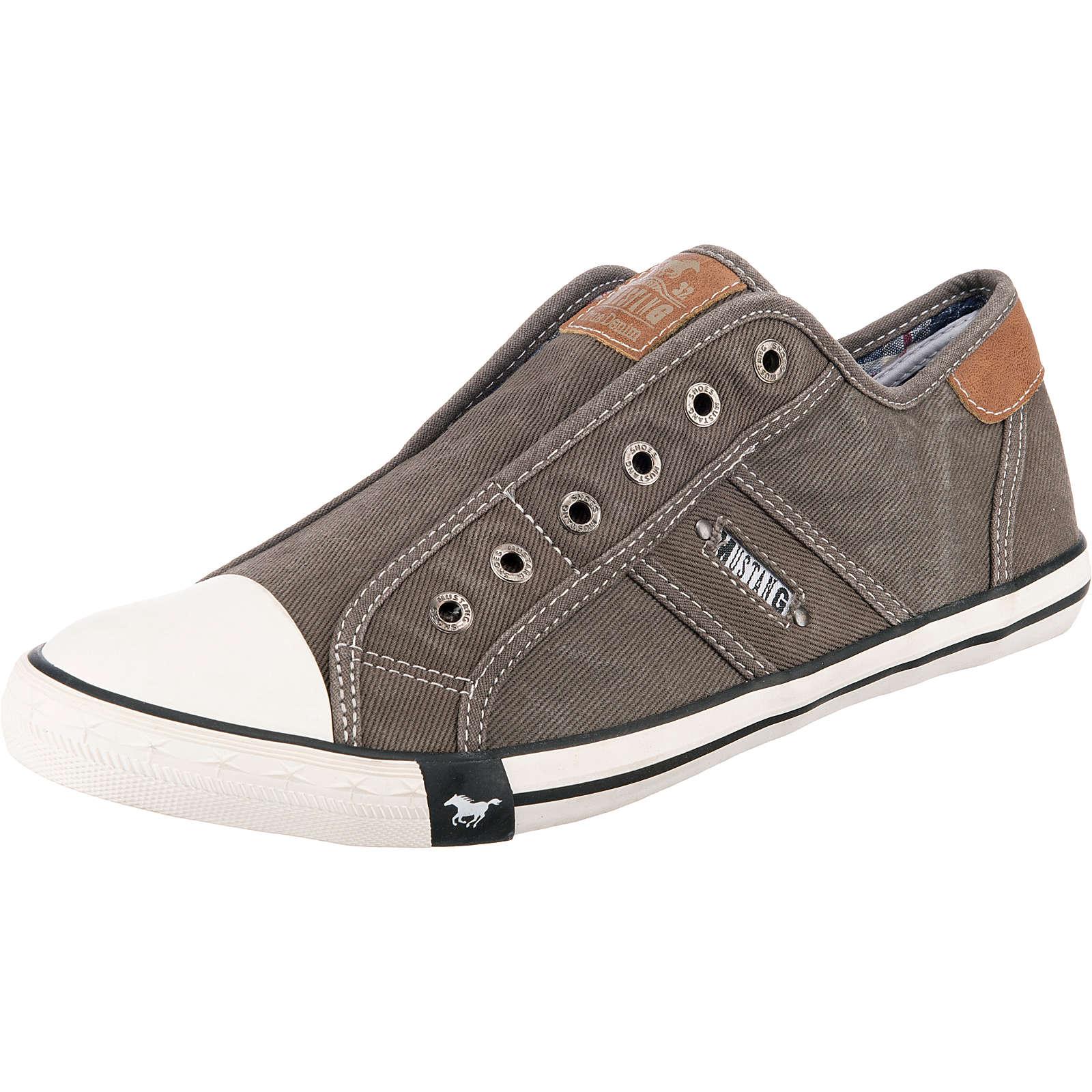 MUSTANG Slip-On-Sneaker grau Herren Gr. 45