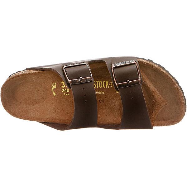 BIRKENSTOCK, Arizona schmal Komfort-Pantoletten, beliebte dunkelbraun  Gute Qualität beliebte Komfort-Pantoletten, Schuhe 941eb5