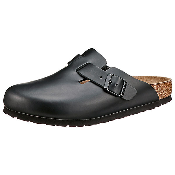 Boston Naturleder Schmal Clogs