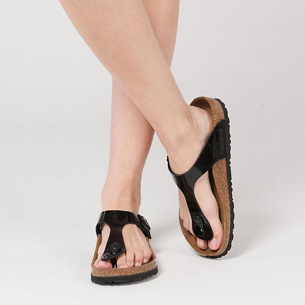 BIRKENSTOCK Gizeh weit Zehentrenner schwarz  Gute Qualität beliebte Schuhe