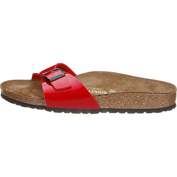 BIRKENSTOCK, Madrid Gute schmal Komfort-Pantoletten, rot  Gute Madrid Qualität beliebte Schuhe ac51ff