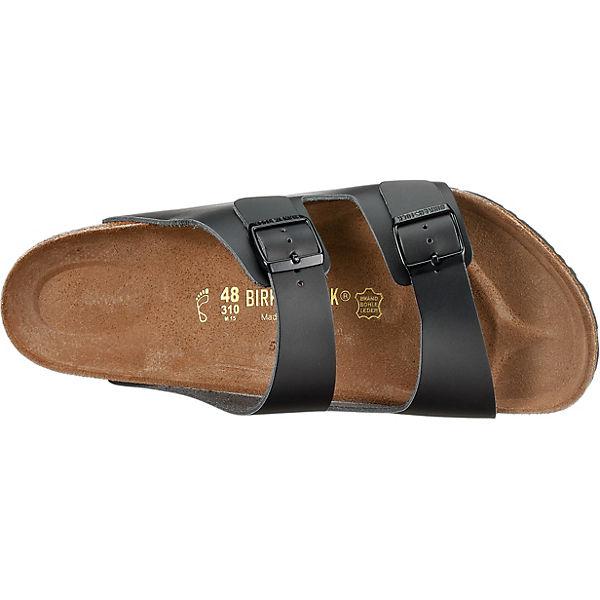 BIRKENSTOCK, BIRKENSTOCK Arizona Pantoletten Qualität weit, schwarz  Gute Qualität Pantoletten beliebte Schuhe 3a254a