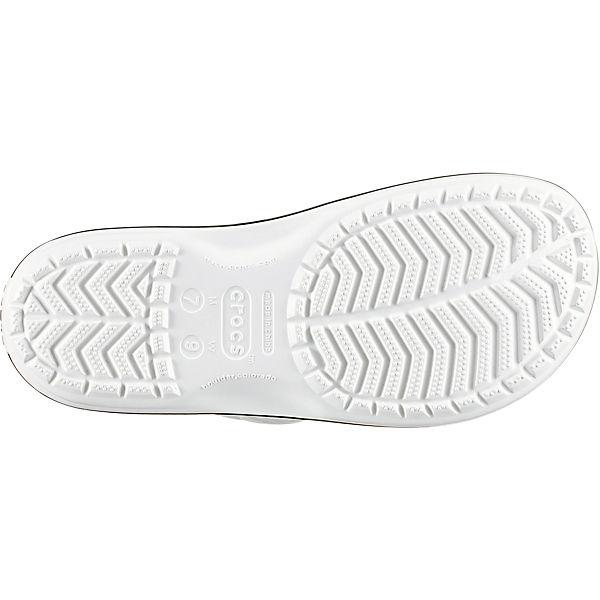 weiß Zehentrenner Flip Crocband crocs kombi qWnw7t1HO6