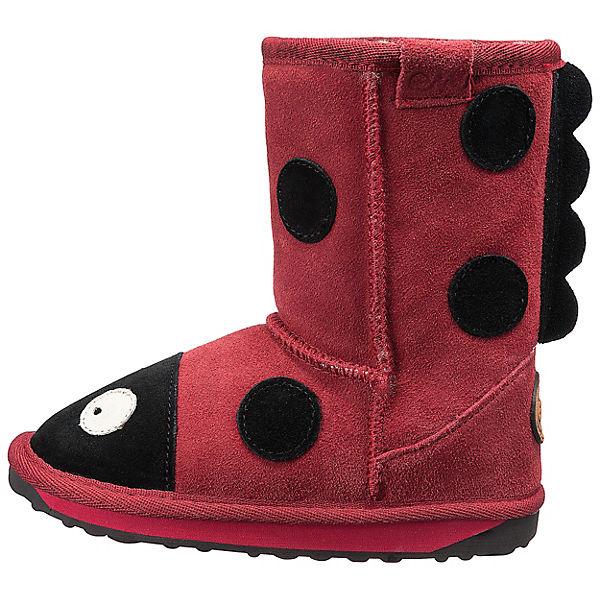 EMU Australia Winterstiefel Ladybird für Mädchen rot