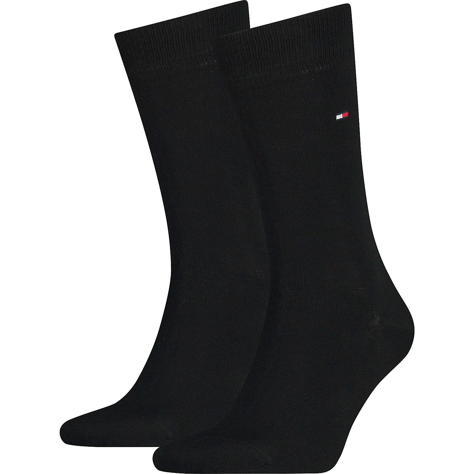 TOMMY HILFIGER 2 Paar Socken schwarz Herren Gr. 43-46