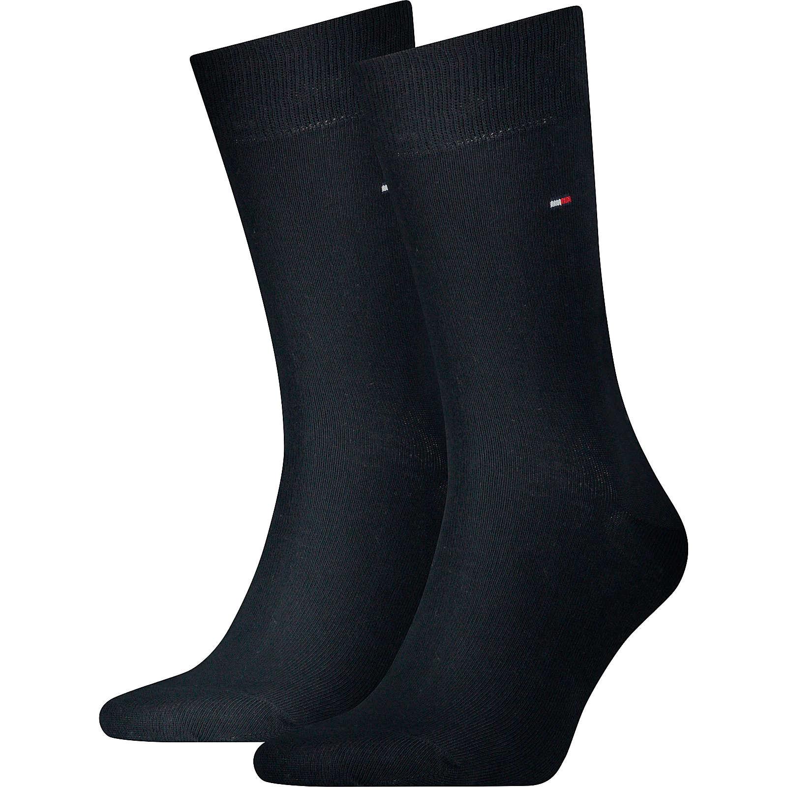 TOMMY HILFIGER 2 Paar Socken Socken dunkelblau Herren Gr. 39-42