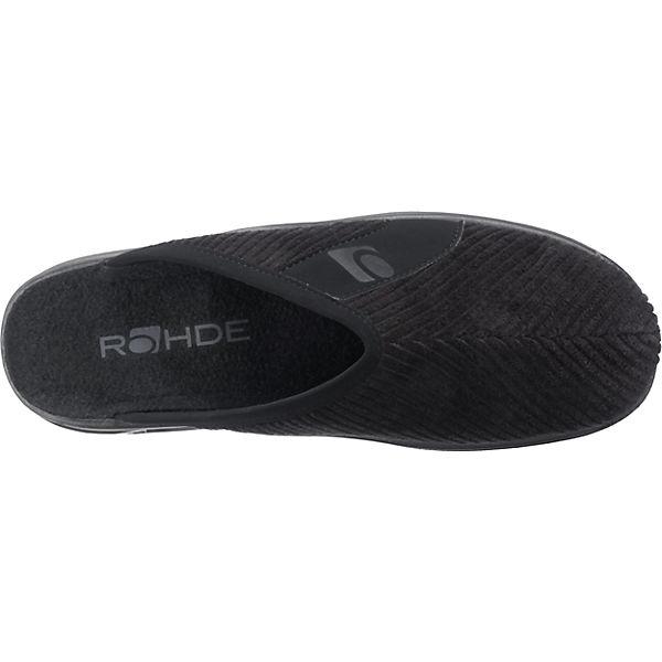 ROHDE ROHDE H Vaasa Pantoffeln Vaasa schwarz ycqqrR8Z0w