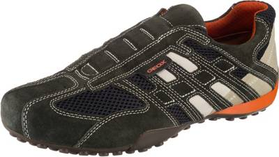 Geox Turnschuhe Halbschuhe Sneaker Orange Grau In 36 37 Mit Klettverschluss