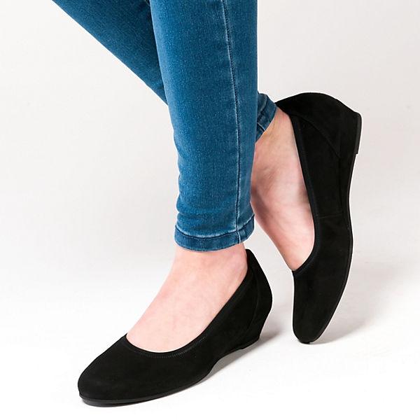 Gabor, Gabor, Gabor, Klassische Ballerinas, schwarz  Gute Qualität beliebte Schuhe e35daa