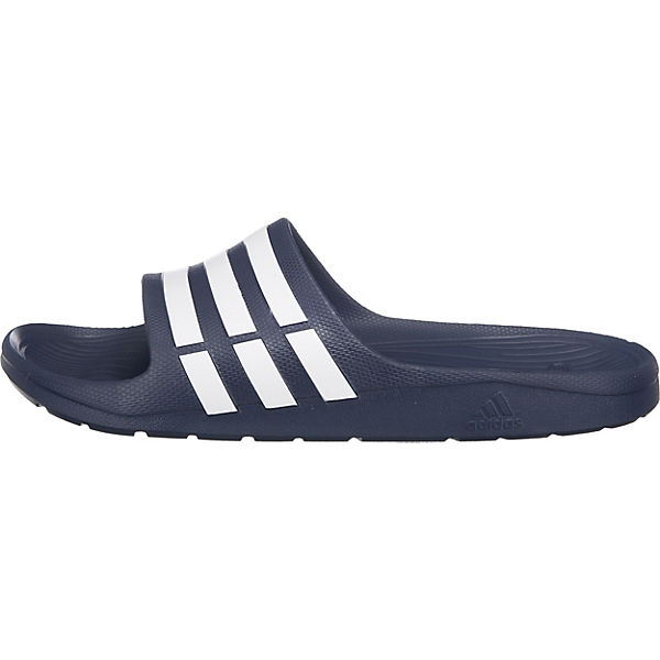 adidas Performance Duramo Slide offene Schuhe dunkelblau