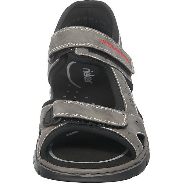 rieker Klassische Sandalen kombi Klassische rieker grau rdSq0frxw