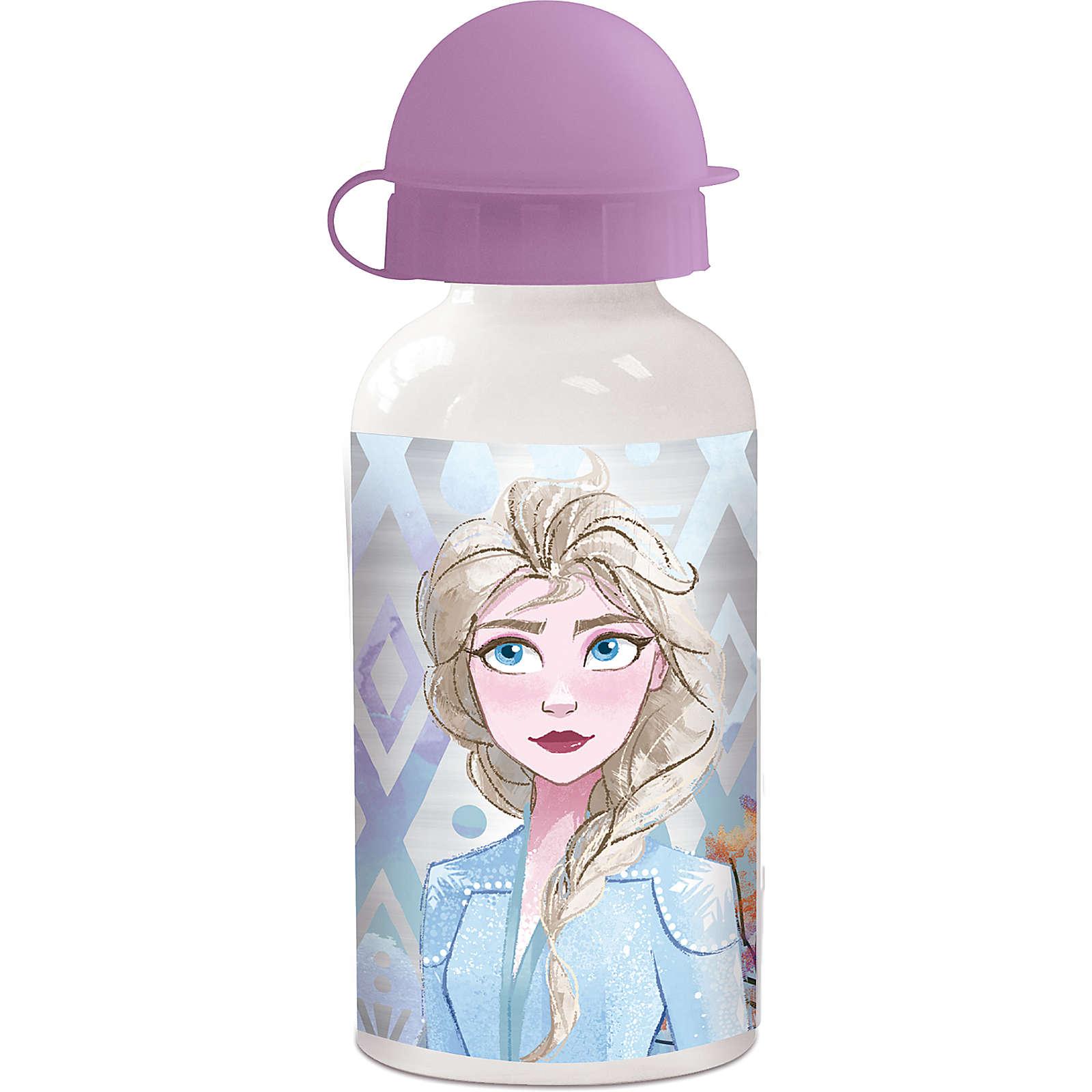 P:OS Alu Trinkflasche Die Eiskönigin, 400 ml pink Mädchen Gr. 400