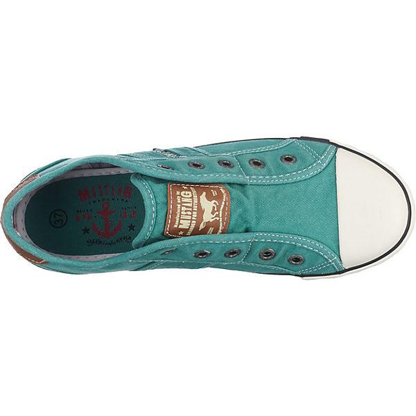 MUSTANG, Turnschuhes beliebte Niedrig, türkis Gute Qualität beliebte Turnschuhes Schuhe b006d6