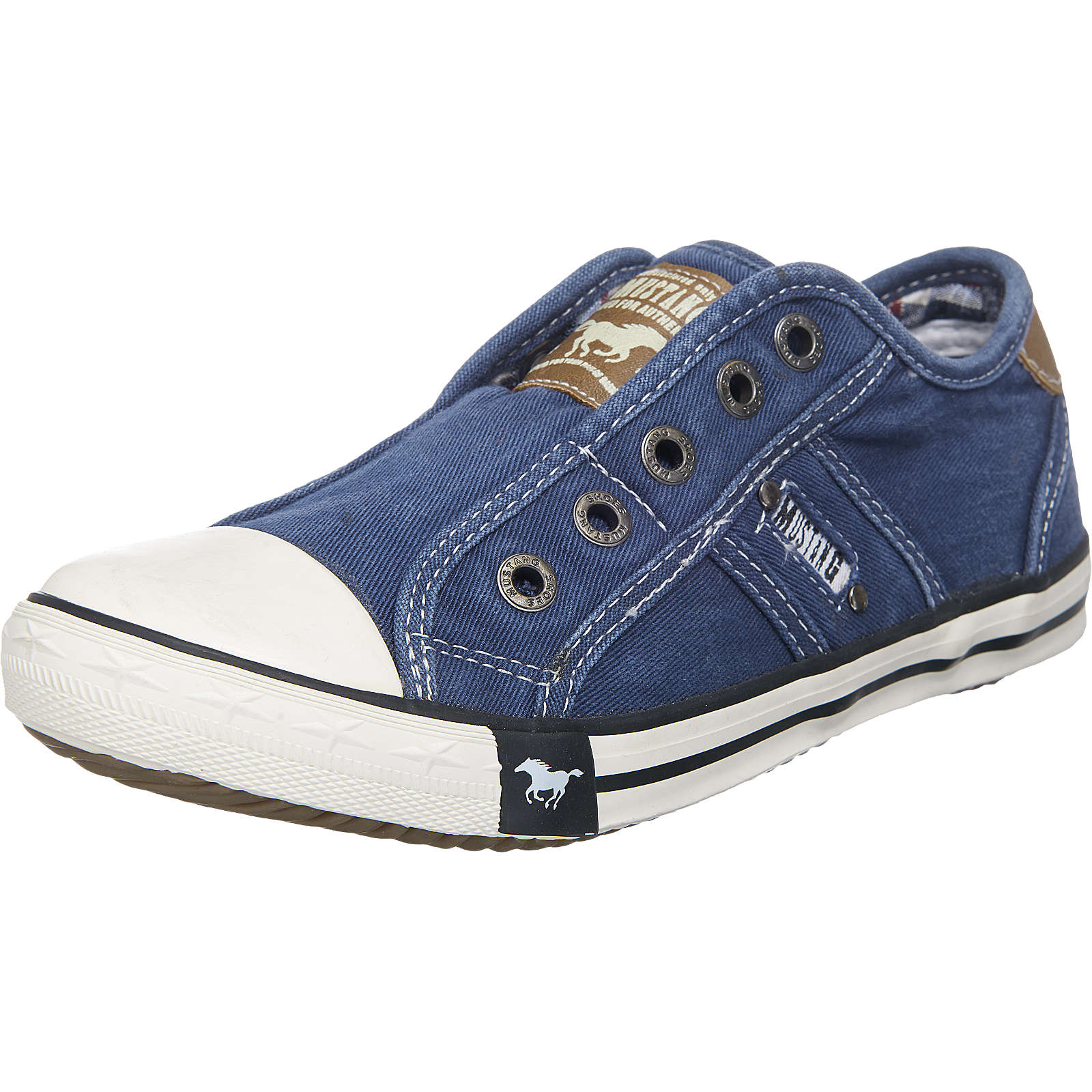 MUSTANG Kinder Slipper blau Gr. 35
