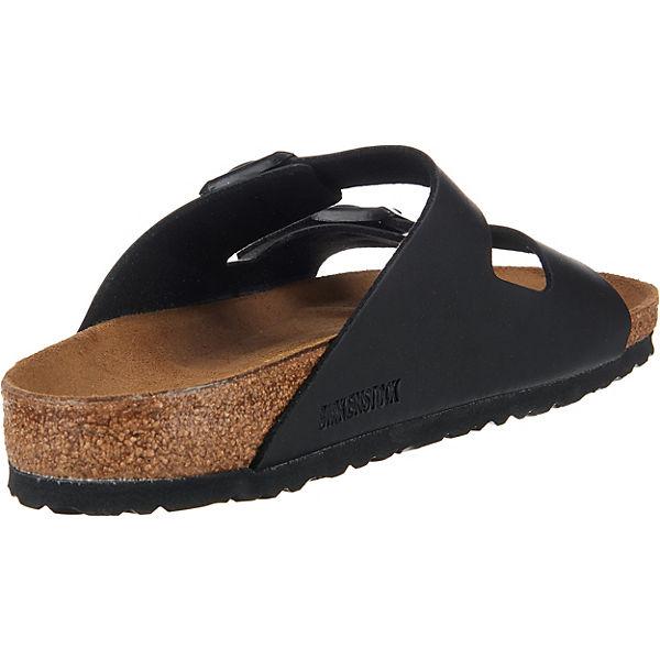 BIRKENSTOCK Arizona weit Pantoletten schwarz  Gute Qualität beliebte Schuhe